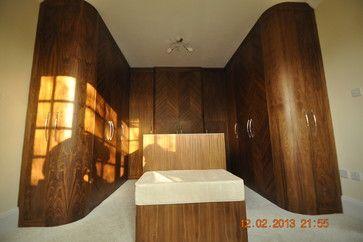 Fitted Wardrobe - bespoke furniture - made to measure - bedroom furniture - veneered - curved doors - diamond effect www.cliveandersonfurniture.co.uk