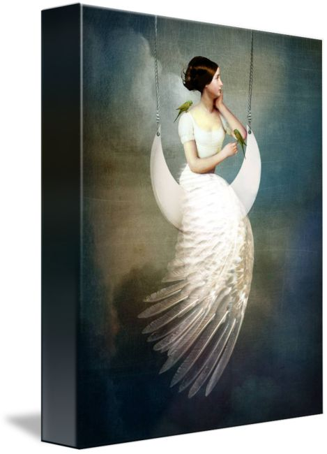 """""""To the Moon and back"""" by Catrin Welz-Stein, Zuerich // Digital Artwork // Imagekind.com -- Buy stunning fine art prints, framed prints and canvas prints directly from independent working artists and photographers."""