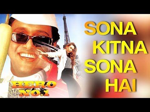 Sona Kitna Sona Hai - Hero No. 1 | Govinda & Karisma Kapoor | Udit Narayan & Poornima - YouTube