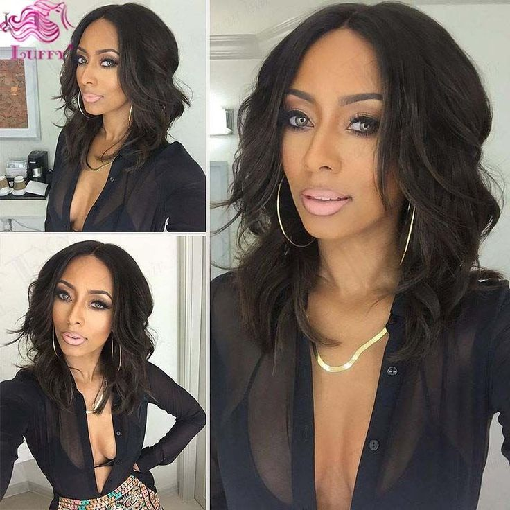 10''-16'' Natural wave Lace Front Wig 100% Brazilian human hair wigs short bob  #bob #LaceFrontWigs