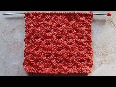 Объемный рельефный узор Вязание спицами Видеоурок 183 - YouTube