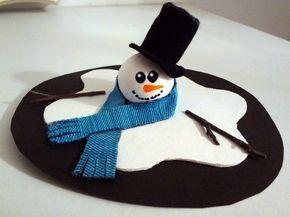 Poor snowman! He has gone off!