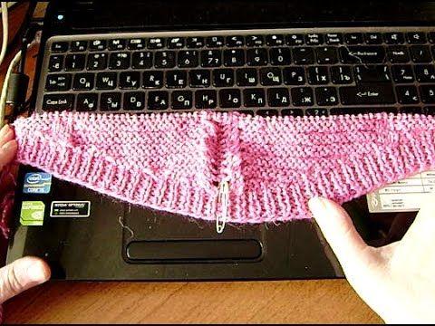 Как начать вязать спинку пуловера.. Вязание с LusiTen