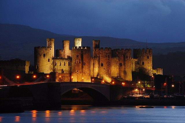 One of my favourite places in the world. I would like, one day, to have a home there.. :)    Conwy Castle at Night by Steve Wilson.
