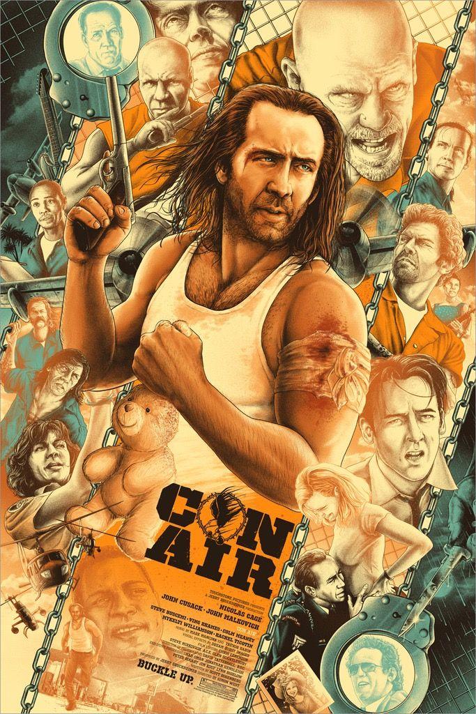 Con Air Air Movie Movie Poster Art Con Air