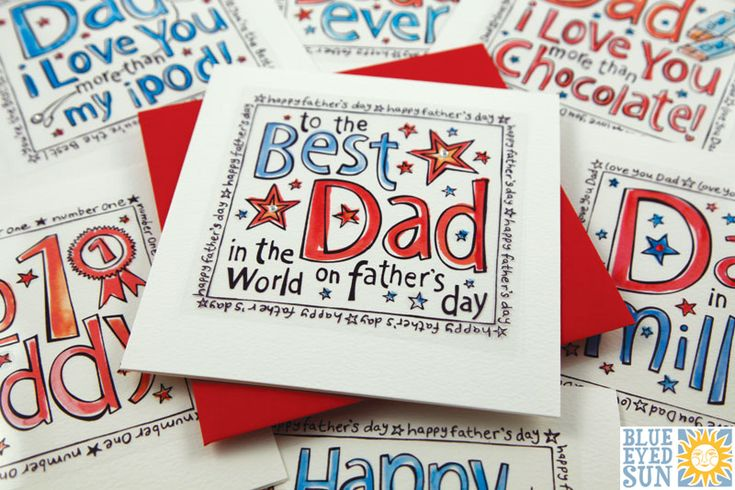 New Funky Fathers Day card range from Blue Eyed Sun