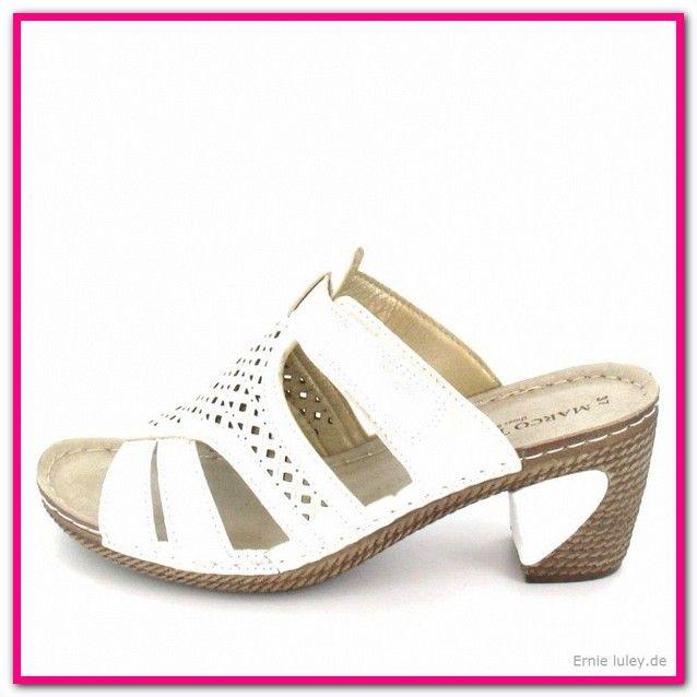 timeless design 4fe85 05e7e Weiße Pantoletten Mit Absatz-Bequem, stylish und hip ...