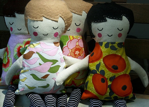 felt dolls-- Christmas?
