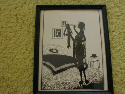 Quot French Dolls Quot Art Deco Ladies Boudoir Silhouette Print