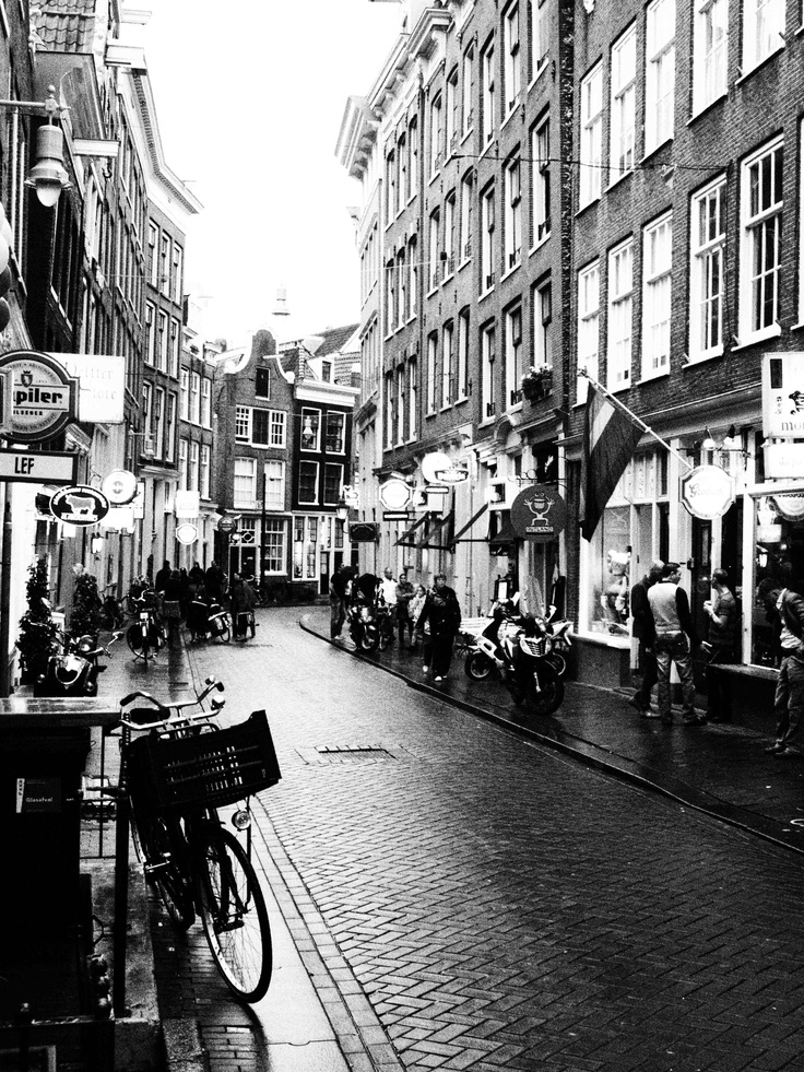 red light district, by day; amsterdam.