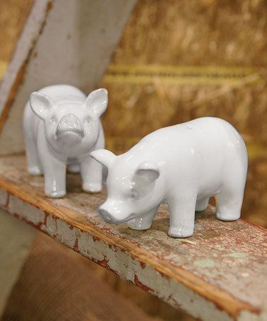 Another great find on #zulily! Ceramic Pig Salt & Pepper Shaker - Set of Two #zulilyfinds