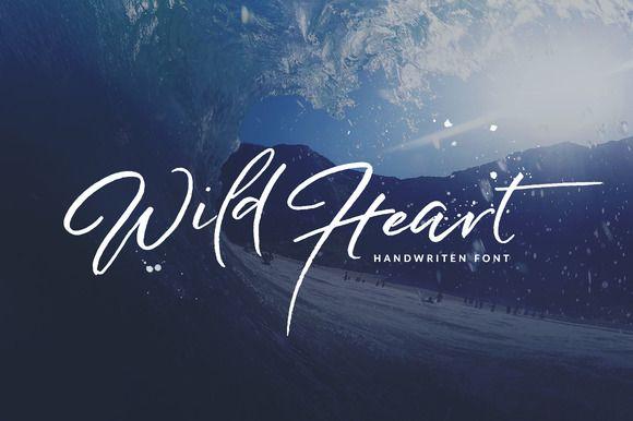 Wild Heart - Brush 5Font Set 40% OFF by Dirtyline Studio on @creativemarket