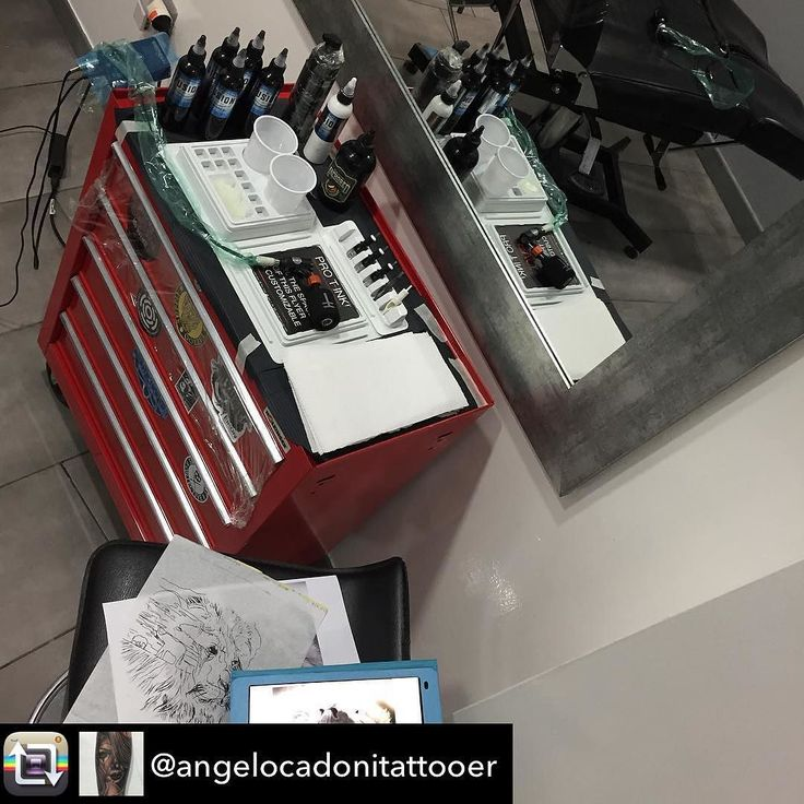 Repost from @angelocadonitattooer - Ready to start @fusion_ink @pro_t_ink @truetubes @stencilanchored @sorrymomtattoo @bishoprotary #fusionink #truetubes #stencilanchored #sorrymom #protink #sponsored #evo