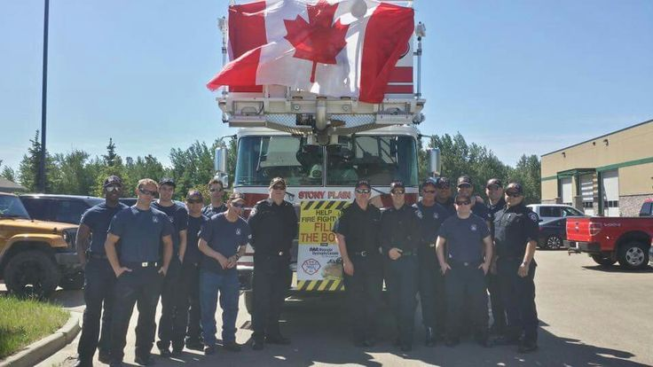 Stony Plain Firefighters bootdrive at Farmers Days