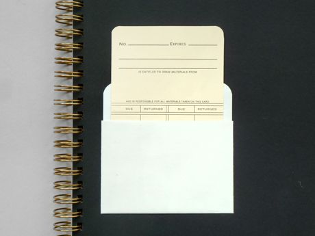 Library Card & Pocket Present & Correct #Stationery