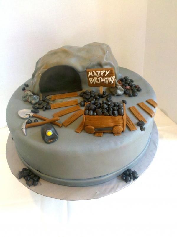 Coal Miner Wedding Cake Topper