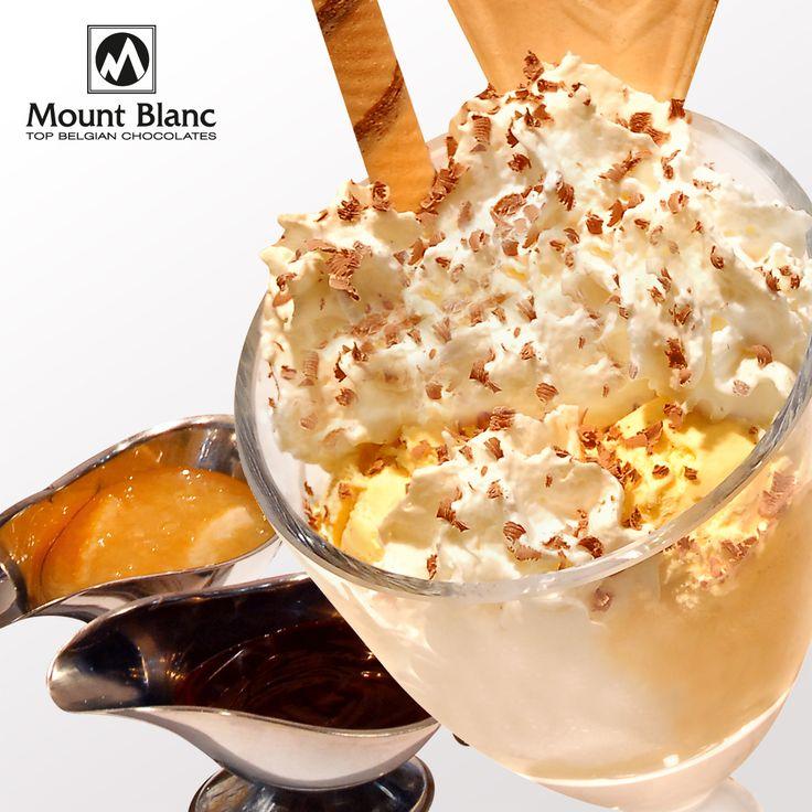 Puchar lodowy z konfiturą cytrynową, imbirem i sosem czekoladowym