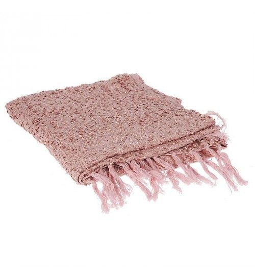CHENNILE THROW IN PINK COLOR 130X170