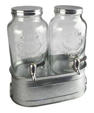 Masonware Farmhouse Beverage Dispenser Set #zulily #zulilyfinds