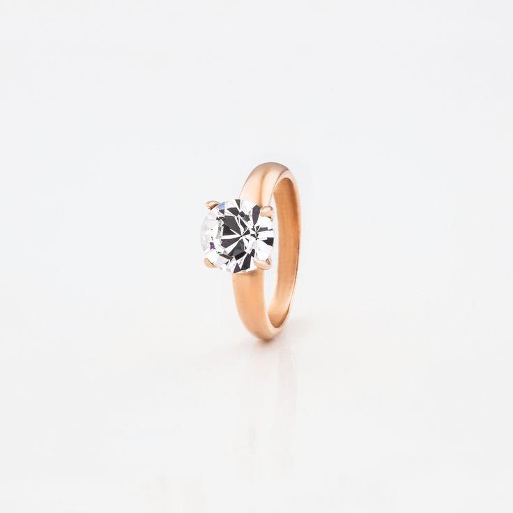 #Miglio #Rose #Allure #classic #solitaire #ring with a #Cubic #Zirconia RR189 - www.miglio.com