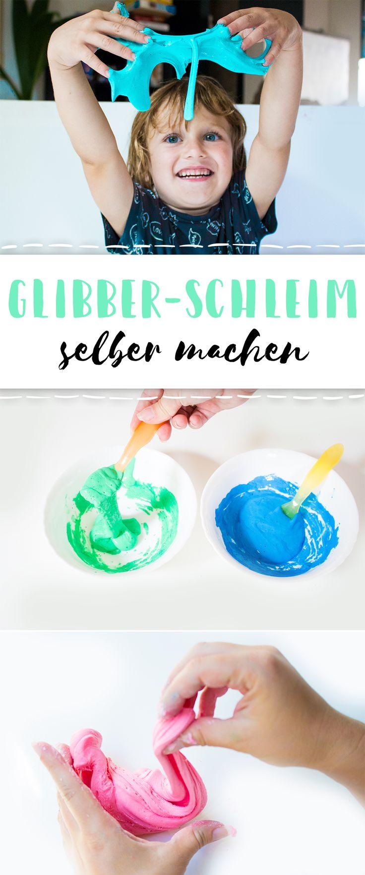 Glibber, Glibber - 2 einfache DIY-Anleitungen für den beliebten Spiel-Schleim