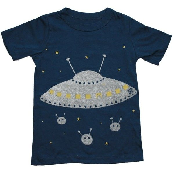 Winter Water Factory, Space Ship Tee In Galaxy (C) ~ ($24) ❤ liked on Polyvore