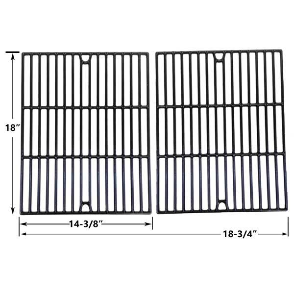 2 PACK PORCELAIN CAST IRON REPLACEMENT COOKING GRID FOR GRILL CHEF GC7550, DUCANE 3073101, AFFINITY 3100, AFFINITY 3400 GAS GRILL MODELS Fits Compatible Grill Chef Models : GC7550 Read More @http://www.grillpartszone.com/shopexd.asp?id=34010&sid=23255
