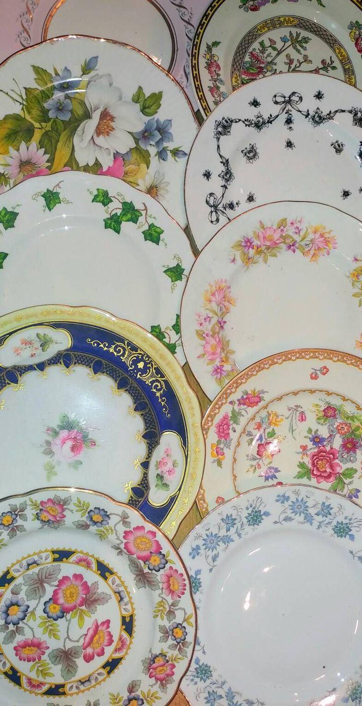 6 (6pc) Job Lot Vintage Mismatched China Mix Medium Salad Lunch Luncheon Dessert Starter Plates Bulk Tableware Tea Party Wedding Crockery by GBVintageMarket on Etsy https://www.etsy.com/uk/listing/530188557/6-6pc-job-lot-vintage-mismatched-china
