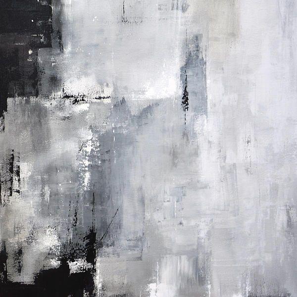 Fine Art Print Abstract Painting Minimalist Black White