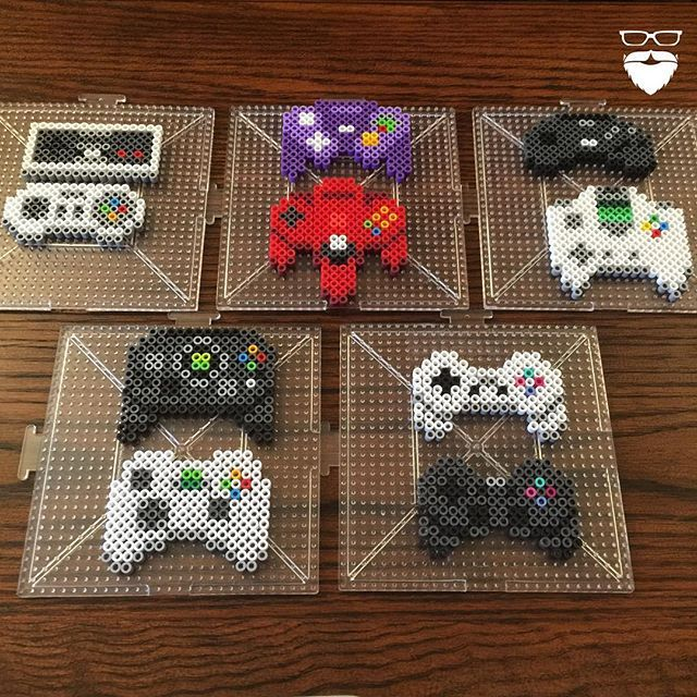 Video game controllers hama beads by piercepopart
