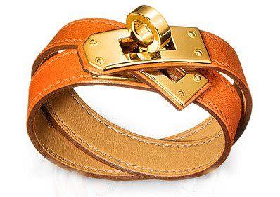 Hermes Kelly Double Tour--timeless!: Wraps Bracelets, Hermê Bracelets, Kelly Bracelets, Hermes Bracelets Orange, Double Tours, Kelly Double, Hermes Kelly, Hermè Kelly, Leather Bracelets