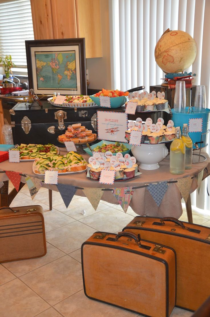 Adventure Is Out There!: Amberu0027s Vintage Travel And Airplane Baby Shower