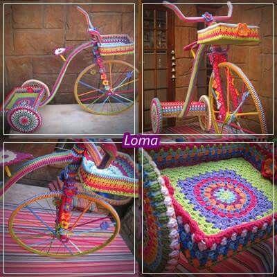 My yarnbomb bicycle