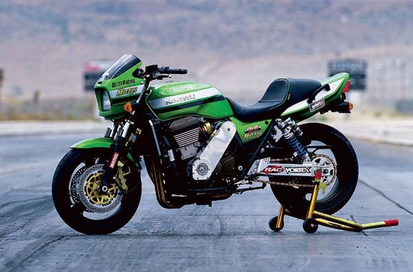 Our February 2005 cover story is this wild supercharged Kawasaki ZRX1200 built by John Voter and Richard Sims of Muzzys Performance that pumps out 200 horsepower and runs the quarter-mile in the nine-second bracket.Check out the February issue (on sale December 7th) for all the details, including a dyno chart, quarter-mile times, and a riding impression as editor Kunitsugu fires the beast down the strip.Related articlesRichard Sims' nitrous-snorting Kawasaki ZX-9RKawasaki ZRX1200 ro