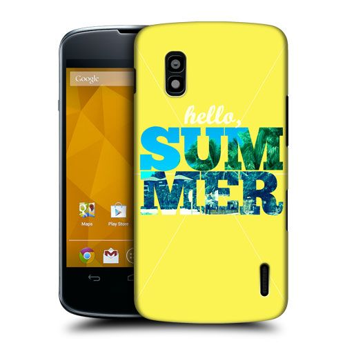 HEAD CASE HELLO SUMMER SNAPSHOT DESIGN HARD BACK CASE COVER FOR LG NEXUS 4 E960 | eBay