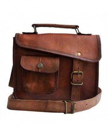 8d650452660a MNI small Leather messenger bag shoulder bag cross body vintage ...