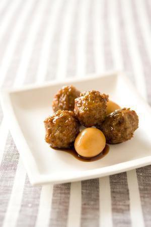 肉だんごとうずら卵の照り焼き | 李映林さんのレシピ【オレンジページ ...