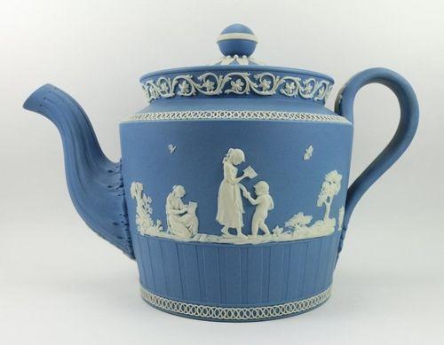 Adams & Co. Blue Jasper Teapot: