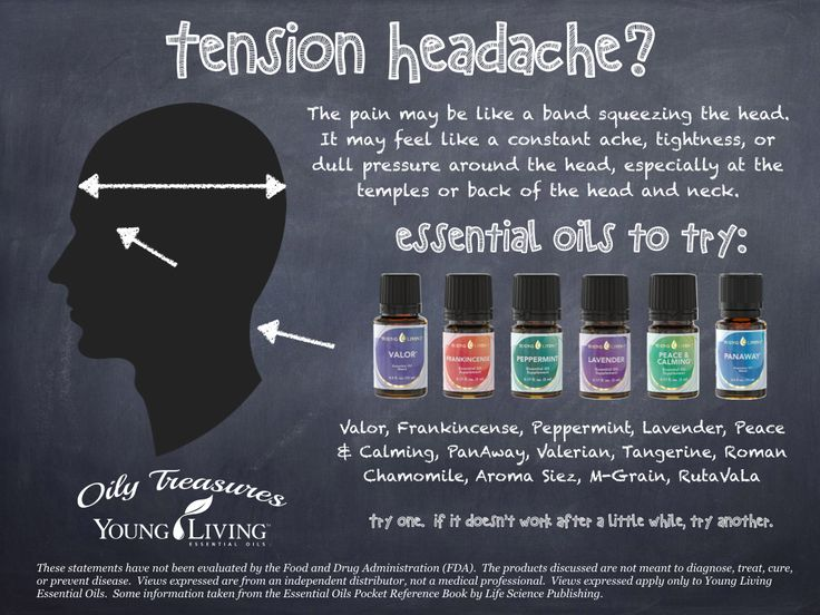 Tension Headaches Young Living Essential Oils For Tension