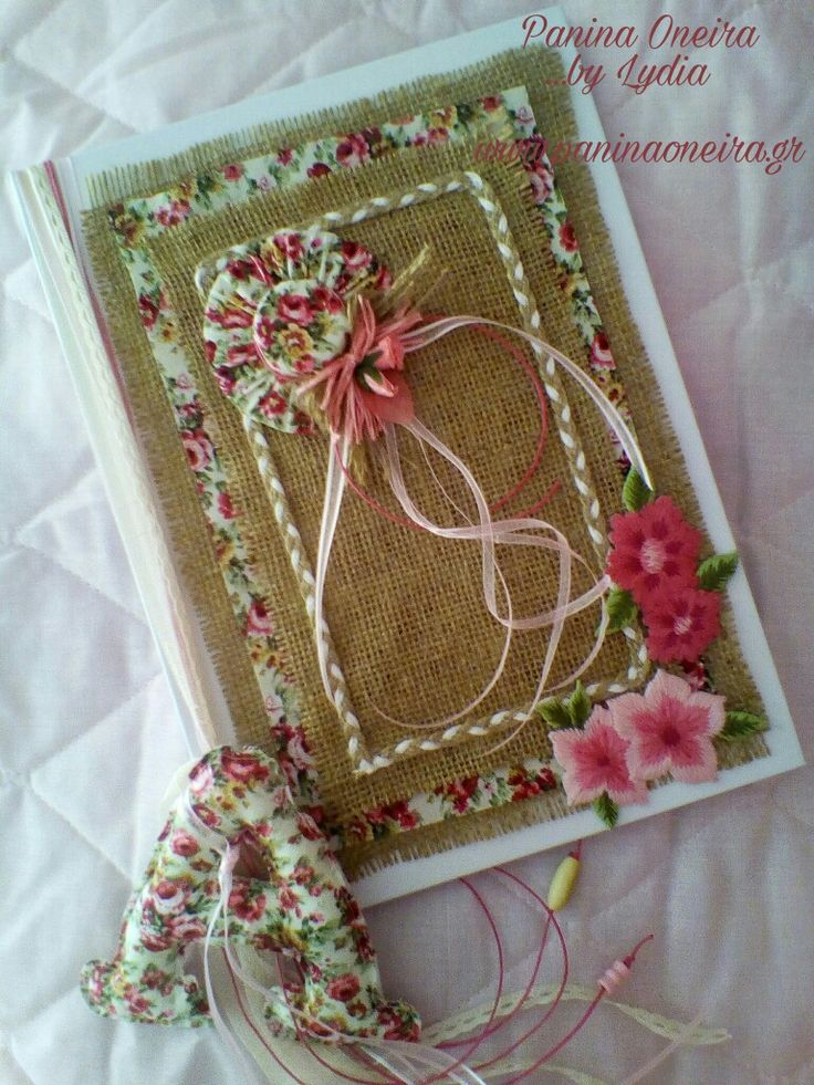 Handmade vintage floral wish book with monogram and a little hat! @paninaoneira