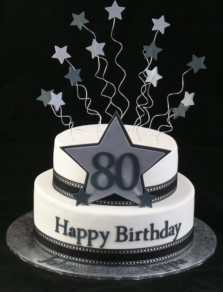 Happy 80th On Cake Central Dads Birthday Party Ideas