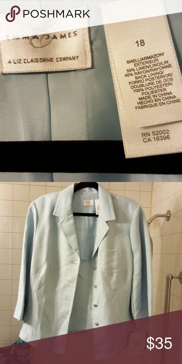 Emma James Powder Blue Jacket 3/4 sleeves. Never worn Tags still on Emma James Jackets & Coats Blazers