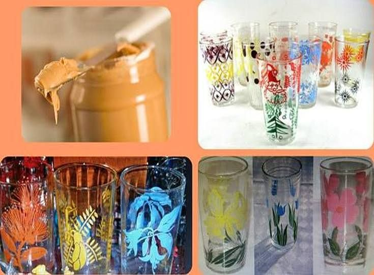 Peanut Butter that came in colourful drinking glasses ~ Old Wellington Region 14 Feb 2015