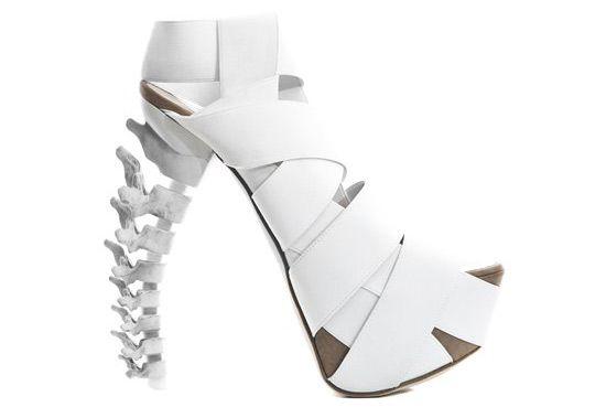'skeletal stilettos' by dsquared2.: Skeletons Shoes, Fashion Design, Skeletons Heels, Weird Shoes, High Heels, Bones Shoes, Dsquared2 Skeletal, Skeletal Stilettos, Spine Shoes