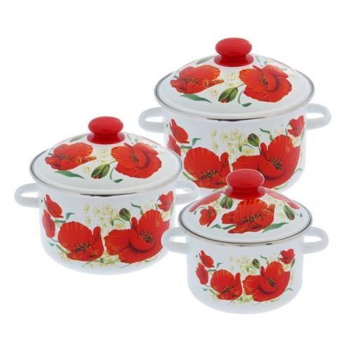 <b>Набор посуды</b> Сибирские товары, Маки, 15, <b>6 предметов</b> ...