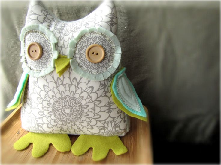 "Beautiful owl dolls ~ Custom made ""Hoots"" a stuffed door.stop owl! by Mel - Needle and Nest Design"