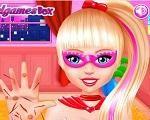 Em Cuide da Mão da Barbie Super Princesa, Barbie, a super princesa machucou a mão enquanto salva a cidade do mal. Agora ela precisa de muitos cuidados. Ajude nossa princesa heroína cuidando de sua mão para que ela fique curada. Divirta-se com a Barbie!