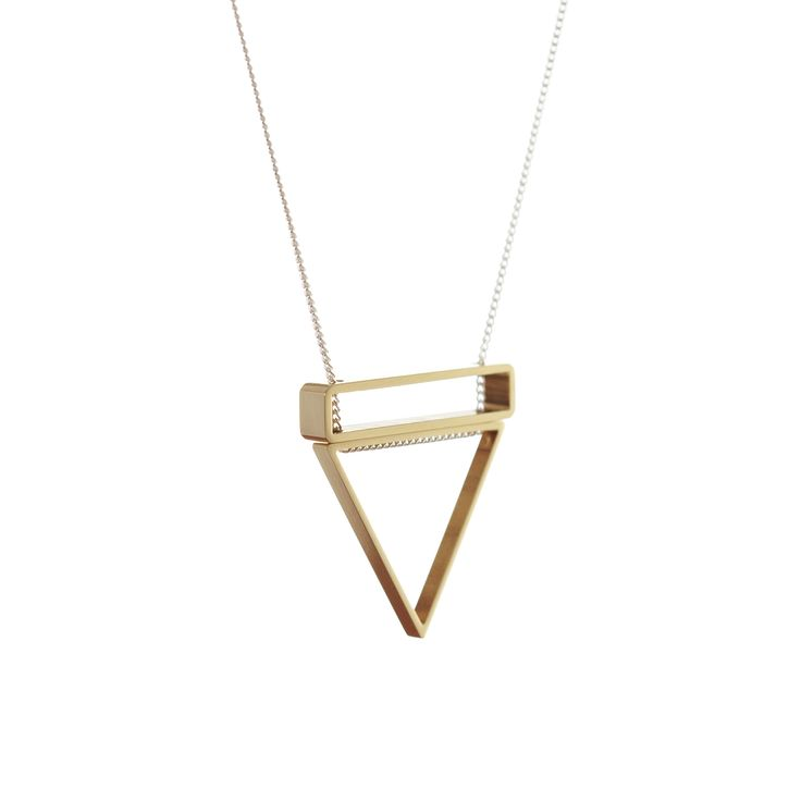 Triangle and Rectangle Stack Necklace