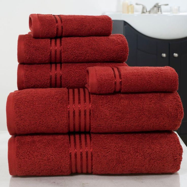 100 egyptian cotton hotel towel set in burgundy red 6piece - Egyptian Cotton Towels