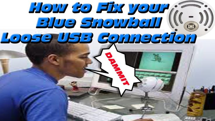 BROKEN SNOWBALL MIC FIX | Loose USB Connection |